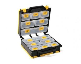 Caja Doble Transparente 12 compatimentos