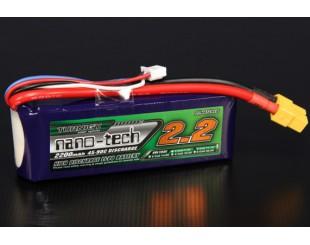 LiPo (7.4v) 2200 mAh 2S 25C-50C nano-tech