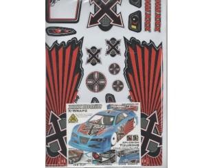 Adhesivos XXX main Touring 1:10 - W004R