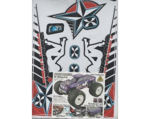 Adhesivos XXX main Monster 1:8 - W010B