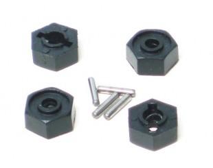 (4) Dados Naylon Hex. 12mm LRP
