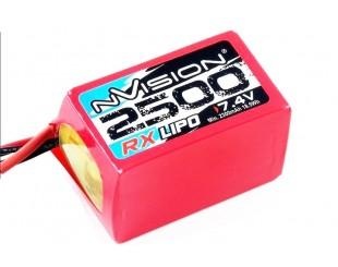 RX Lipo (7.4v) 2500 mAh 2S NVision - 1504