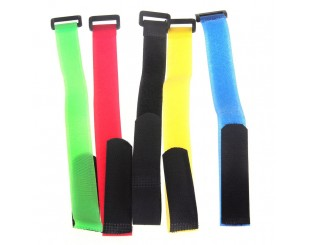 (2) Battery Straps Velcro con lazo 20x300mm