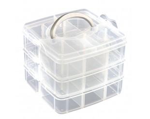 Caja porta Tornillos Transparente 15 comp.